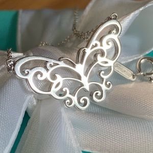 Tiffany & Co. Enchant Butterfly Pendant Necklace